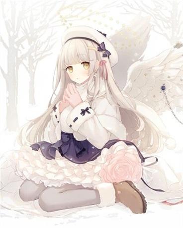 夏夜星空下的白兔糖