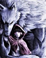 狼背上的萝莉