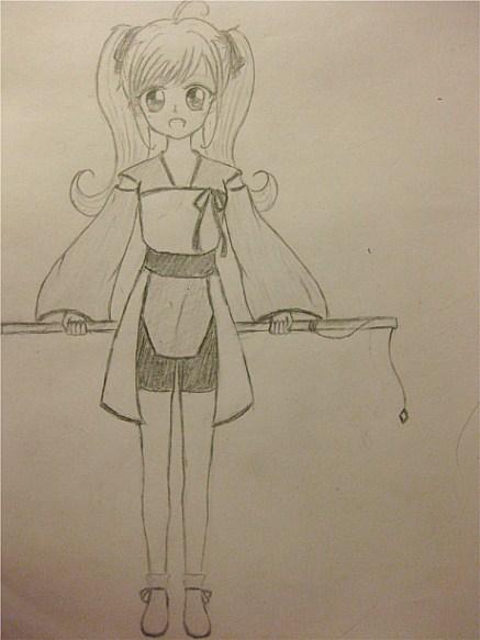 少女手绘动漫画