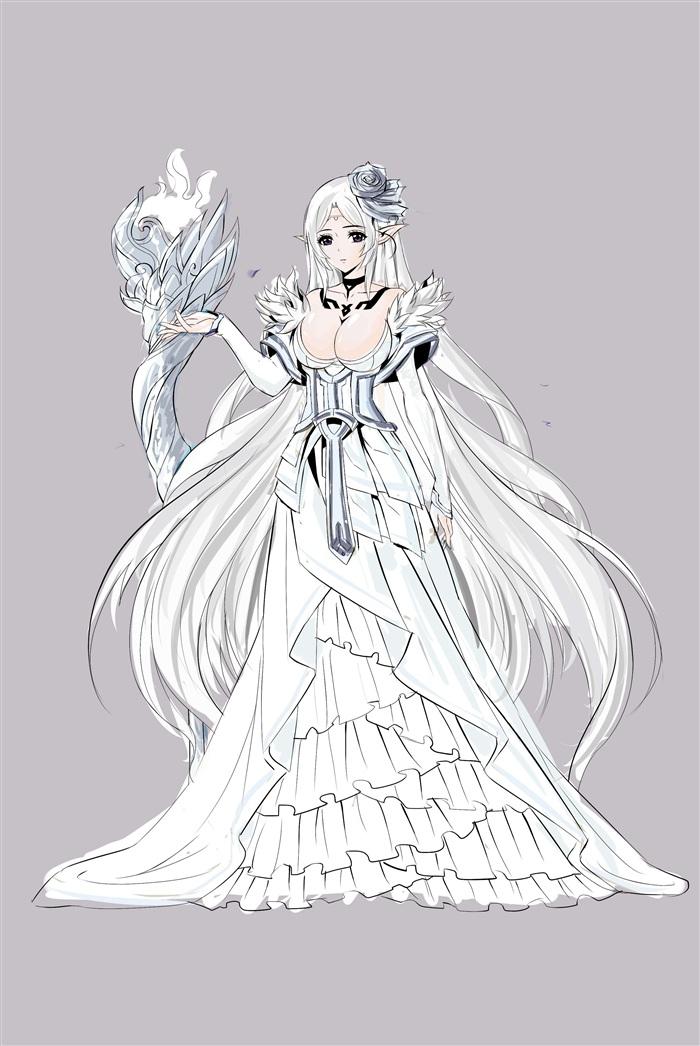 古风手绘黑白女帝